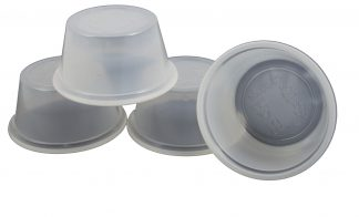 2oz Disposable Food & Water Dishes Clear Plastic