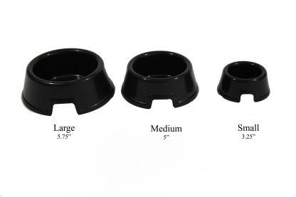 Small Water Bowl Hide Black Plastic