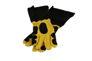 Large Two-Tone Leather Reptile Handling Gloves Gloves