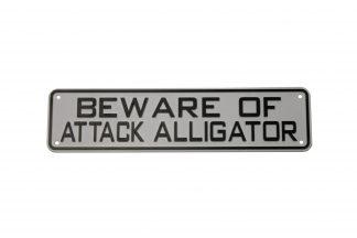 Beware of Attack Alligator Sign