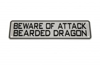 Beware of Attack Bearded Dragon Sign