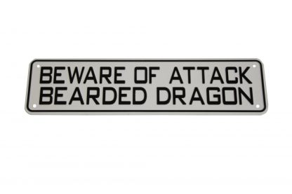 Beware of Attack Bearded Dragon Sign Signs