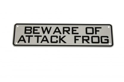 Beware of Attack Frog Sign Signs