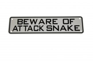 Beware of Attack Snake Sign Signs