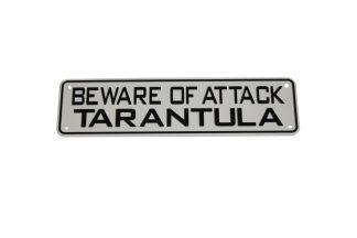 Beware of Attack Tarantula Sign Signs